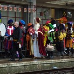 Sint Nicolaas Greets The Children