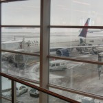 Our Plane Getting Ready in Snow