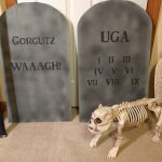 Gorgutz and UGA tombstone lettering